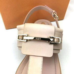Tod's Shoes - TOD'S 100% Italian Leather Ankle Strap Sandals